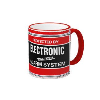 Sistema de alarma electrónico tazas