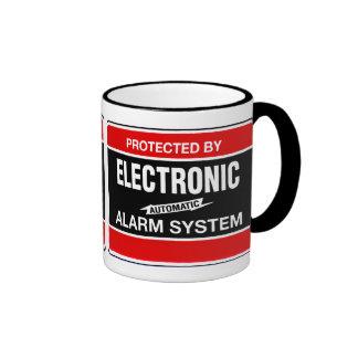 Sistema de alarma electrónico taza