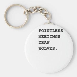 Sistema de alarma insustancial de las reuniones llavero redondo tipo pin