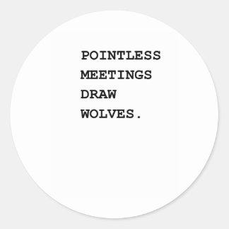 Sistema de alarma insustancial de las reuniones pegatinas redondas