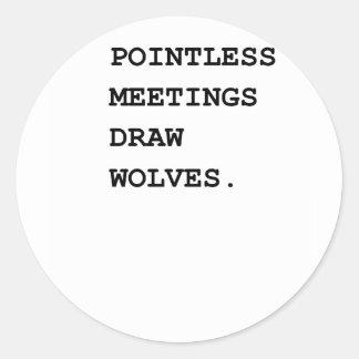 Sistema de alarma insustancial de las reuniones pegatina redonda
