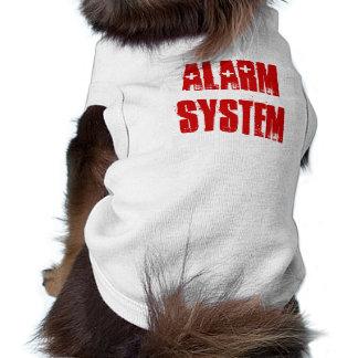 Sistema de alarma - perro playera sin mangas para perro