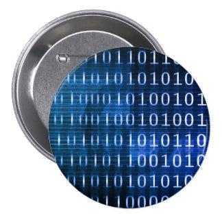 Sistema de base de datos para los informes y el pin redondo de 3 pulgadas
