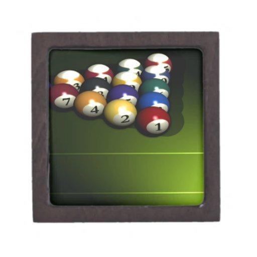 Sistema de bolas de piscina cajas de joyas de calidad