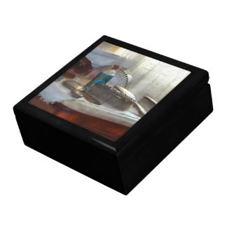 Sistema de cepillo de plata elegante de pelo cajas de recuerdo