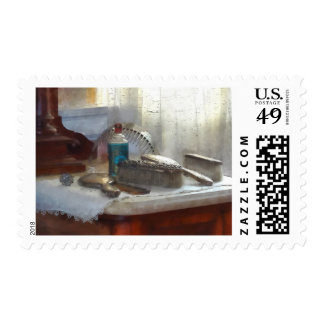 Sistema de cepillo de plata elegante de pelo sello