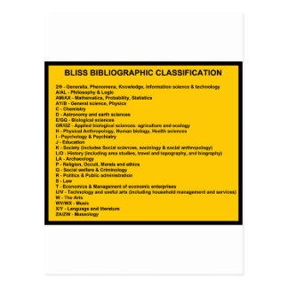 Sistema de clasificación bibliográfica de dicha postales