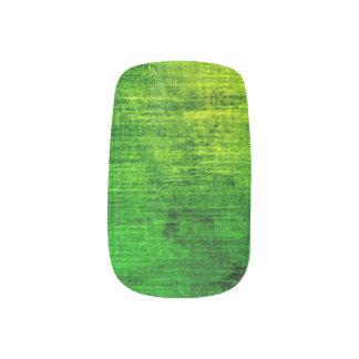 Sistema de clavo verde del Grunge Pegatina Para Manicura