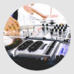 Sistema de DJ Etiquetas Redondas