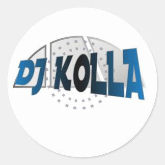 Sistema de DJ Kolla Pegatina Redonda