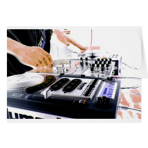 Sistema de DJ Tarjeta De Felicitación
