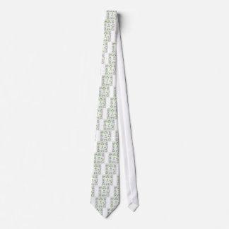 Sistema de elementos del diseño con follaje verde corbatas personalizadas