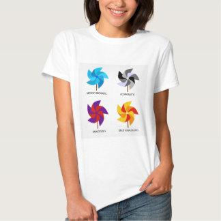 Sistema de esquemas de color t-shirts