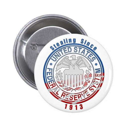 Sistema de Federal Reserve Pin Redondo De 2 Pulgadas