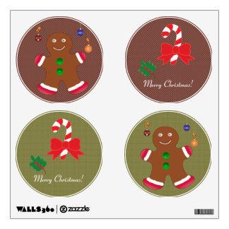 Sistema de Felices Navidad, etiqueta de la pared Vinilo Decorativo