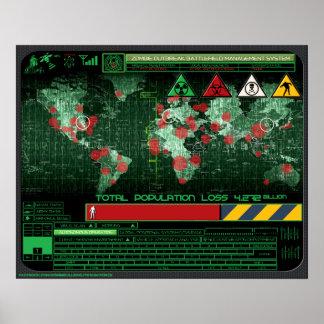 Sistema de gestión del campo de batalla del brote  póster
