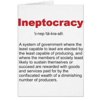 Sistema de gobierno loco de Ineptocracy Tarjeta