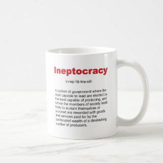 Sistema de gobierno loco de Ineptocracy Taza Clásica