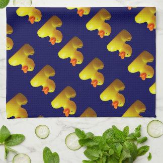 Sistema de goma amarillo de la toalla de cocina de