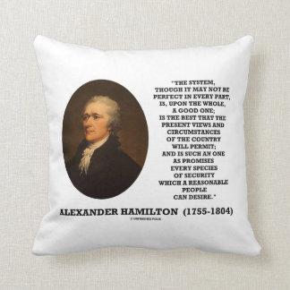 Sistema de Hamilton no ser perfecto una buena una Cojín Decorativo