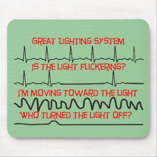 Sistema de iluminación cardiaco --Regalos cardiaco Alfombrillas De Ratón