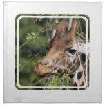 Sistema de imágenes de la jirafa de cuatro servill servilleta de papel
