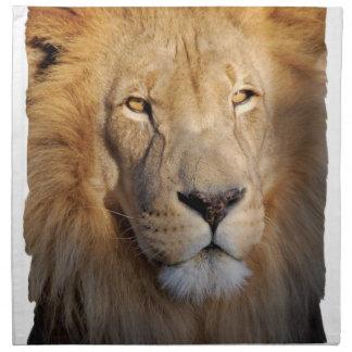 Sistema de imágenes del león de cuatro servilletas