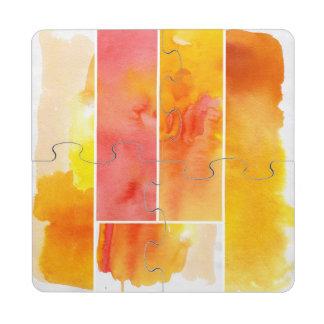 Sistema de la acuarela abstracta pintado a mano