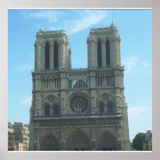 Sistema de la decoración de Notre Dame Póster