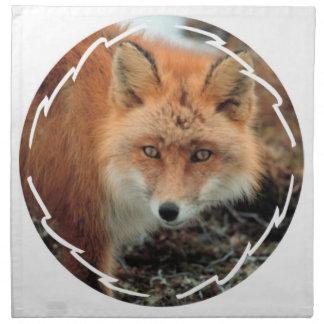 Sistema de la especie del Fox de cuatro servilleta