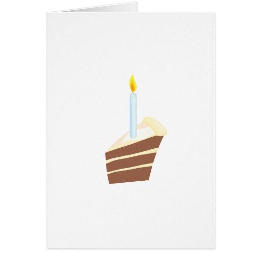 Sistema de la fiesta de cumpleaños de la torta tarjeta de felicitación