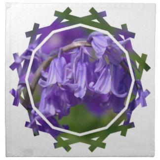 Sistema de la flor de Bell de cuatro servilletas