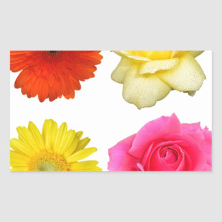 sistema de la flor pegatina rectangular