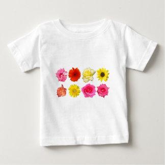 sistema de la flor playera de bebé