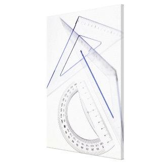 Sistema de la geometría impresión de lienzo