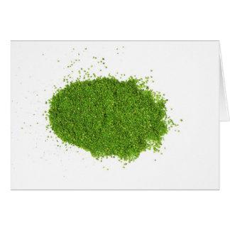 Sistema de la hierba verde ECO Felicitacion