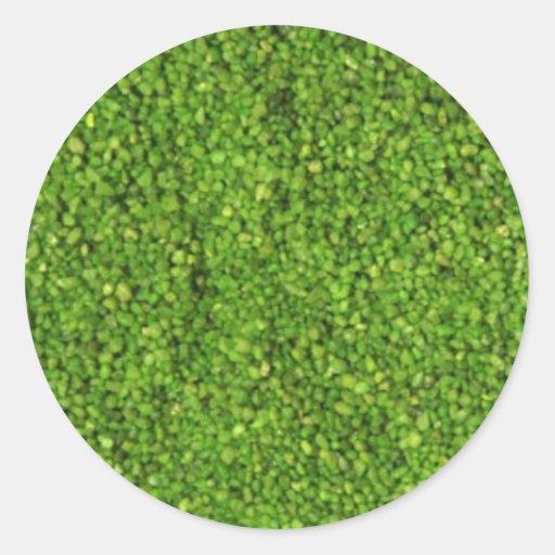 Sistema de la hierba verde ECO Pegatina Redonda