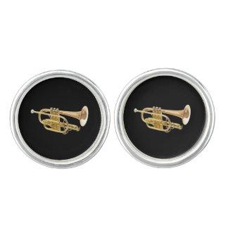 """Sistema de la joyería del diseño de la """"trompeta"""" mancuernillas"""