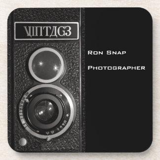 Sistema de la lente de cámara del vintage de 6 prá posavasos de bebidas
