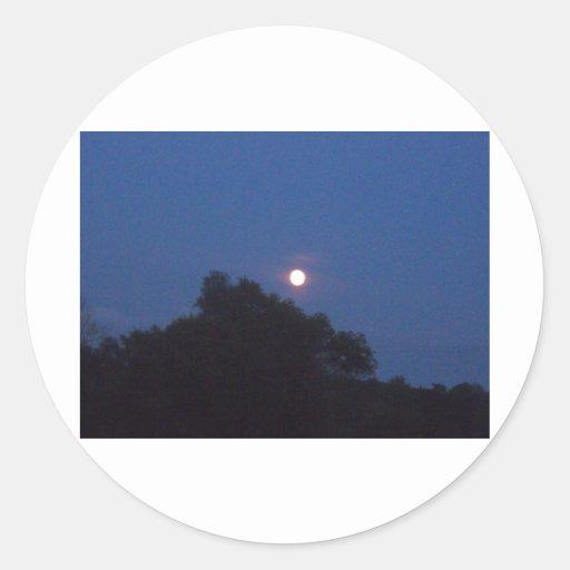 Sistema de la luna pegatina redonda