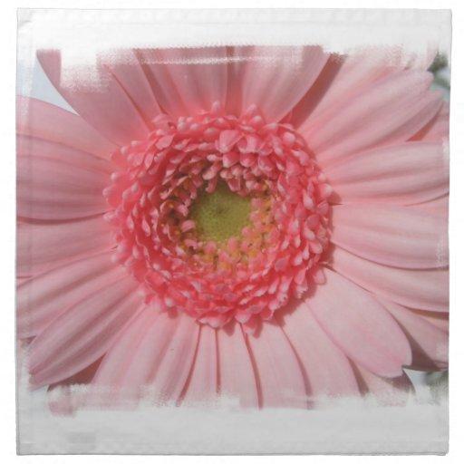 Sistema de la margarita del Gerbera del rosa en Servilletas Imprimidas