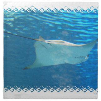 Sistema de la natación de la pastinaca de cuatro servilleta