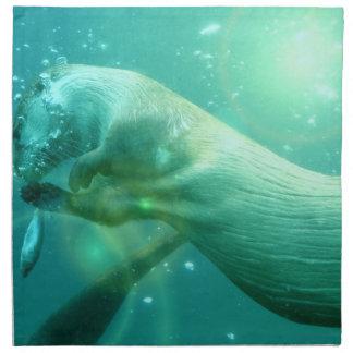 Sistema de la nutria de la natación de cuatro servilletas