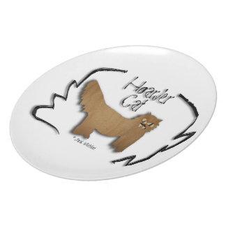 Sistema de la placa del gato del atesorador platos para fiestas