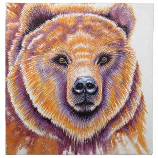 Sistema de la servilleta del paño del oso grizzly
