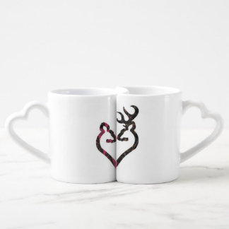 Sistema de la taza de café del dólar y de la gama tazas para enamorados