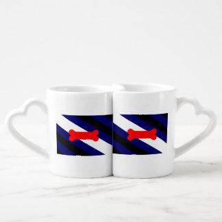 Sistema de la taza de los amantes de la bandera tazas para enamorados