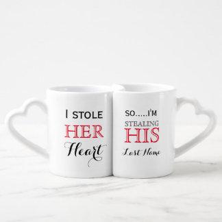 Sistema de la taza de los amantes de la cita de tazas para enamorados