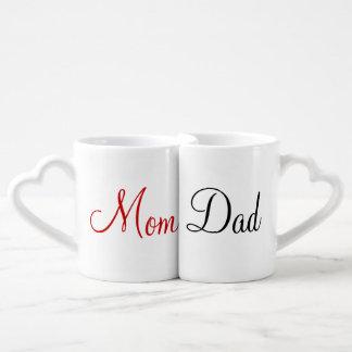 Sistema de la taza de los amantes de la mamá y del tazas para parejas
