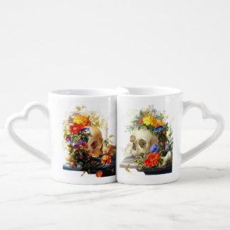 Sistema de la taza de los amantes de los ramos del taza para enamorados
